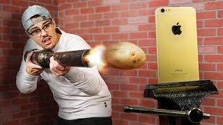 Potato Cannon VS. iPhone!