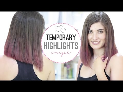 Temporary highlights with crepe paper