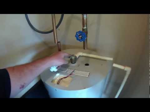 Big John's Service Co, Installing a new GE 40gal Electric Water Heater, March 22, 2013