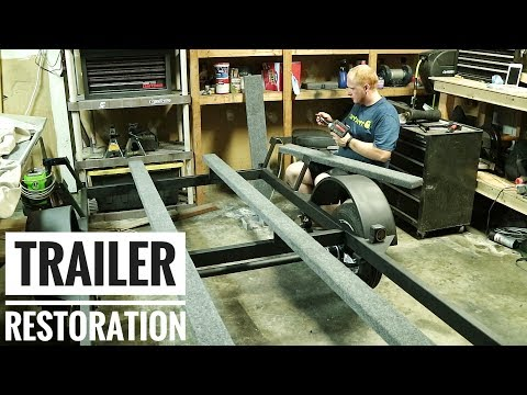 RESTORE A Trailer To Like NEW Condition!!  |  Jon Boat To Bass Boat Restoration