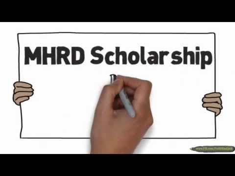 MHRD Scholarship 2014-2015
