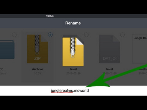 Minecraft IOS tutorial: How to Import .Zip Files to MCPE
