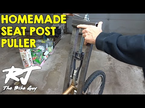 Removing Stuck Seatpost With Homemade Seatpost Puller Tool - Test 2 - Success!!!