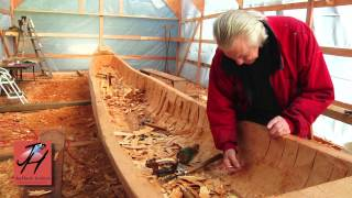 7-Hollowing Out the Canoe - NW Coast Indian Canoe Project