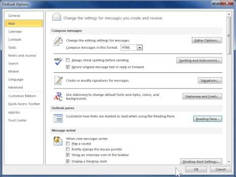 Outlook 2010 Change how the Reading Pane Looks and Works