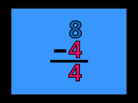 Math Subtraction Facts - Subtracting by 4's