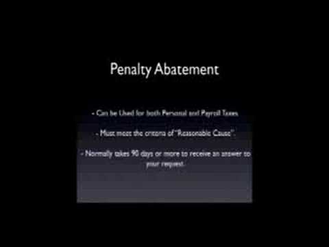 How to Get Rid of IRS Penalties - IRS Penalty Abatement