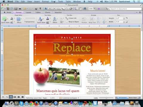 Create a Newsletter Using Microsoft Word Templates