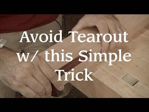 Avoid Tearout With This Simple Trick!