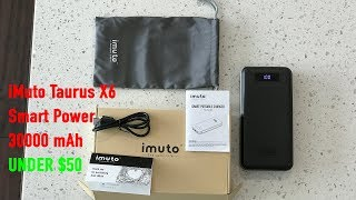 iMuto Taurus X6 Smart Power 30000mAh Power Bank 2017