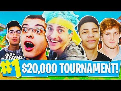 Fortnite $20,000 Youtuber Tournament HIGHLIGHTS! - Fortnite Live Gameplay! (Fortnite Battle Royale)