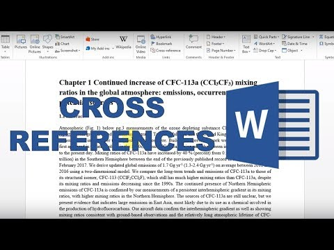 How to make cross references in word