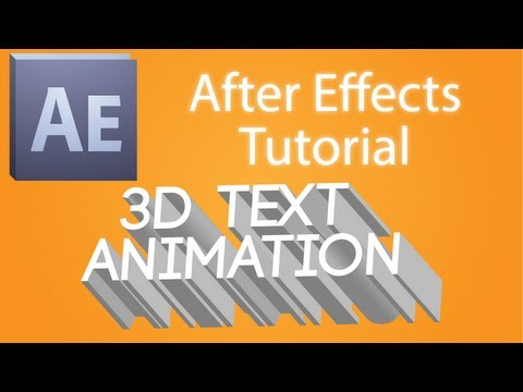 Adobe CS5 After Effects Basic Tutorial: 3D Title Animation Tutorial
