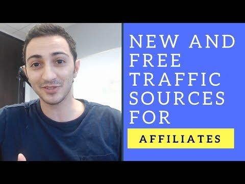NEW and FREE Website Traffic Sources For Affiliate Marketers