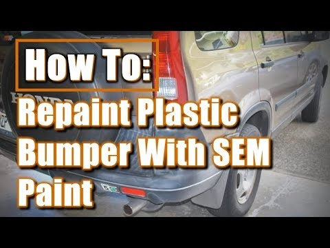 Retro Pic Slide 2012: How To Repaint Plastic Bumper With SEM Paint