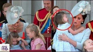 شاهد انعكاسات كيت أم شارلوت السريعة عندما سقطت على شرفة القصر..!!