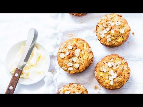 Healthy Breakfast: Baked Oatmeal Muffins
