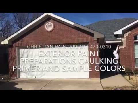 EXTERIOR PAINT PREPARATIONS CAULKING PRIMER AND SAMPLE COLORS