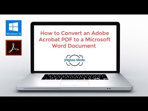 How to Convert an Adobe Acrobat PDF to a Microsoft Word Document