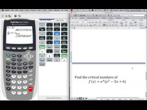 Lesson 3 1B   Using the Calculator to find Derivatives and Critical Numbers