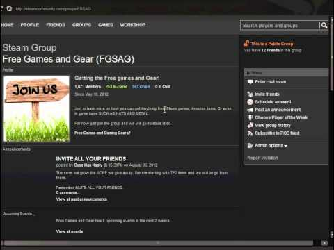 How to Invite your Friends to a Steam Group and Giveaways