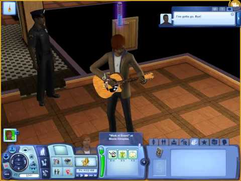 The sims 3 Late Night Gameplay 18 (piano level up and Guitar level up)