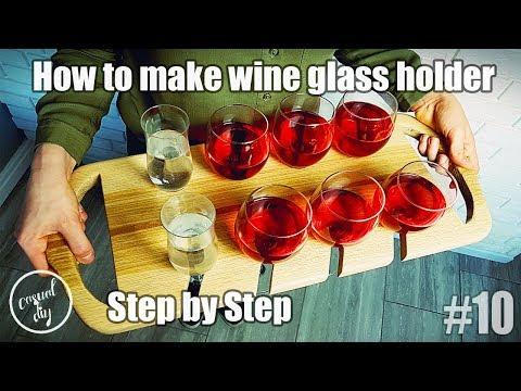 Wine glass holder, wine glass display, wine glass serving tray