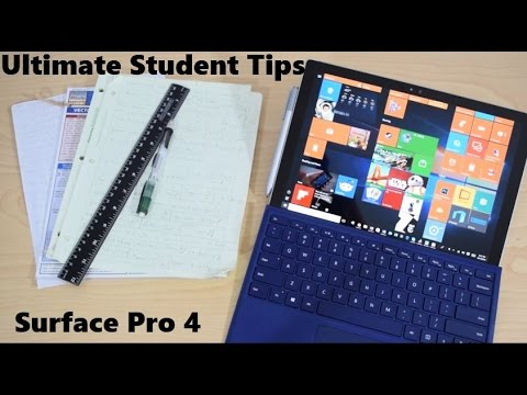Ultimate Student Guide To Using Microsoft Surface Pro 4 and Surface Book
