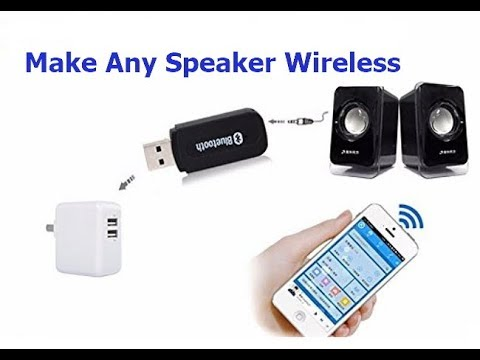 Make Any Speaker Wireless With Bluetooth Audio Receiver