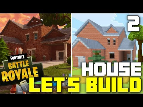 Minecraft: Let's Build a Fortnite House! (Part 2)