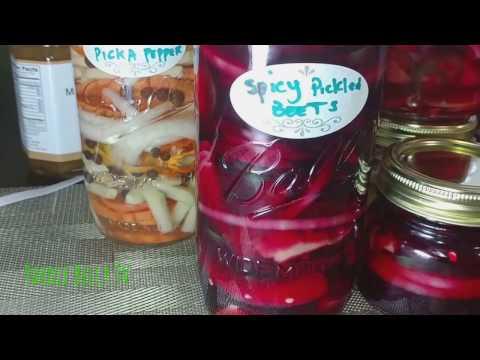 Vegan Foods: Spicy Pickled Beets Yardie Stlye