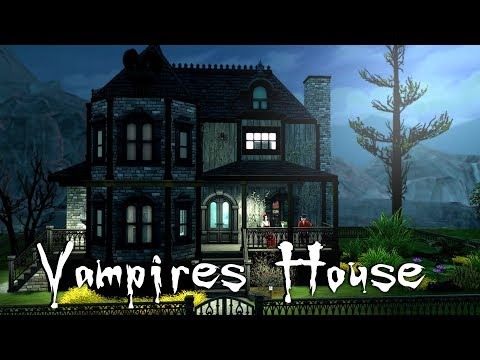 The Sims 4: Speed Build// Vampire House NO CC