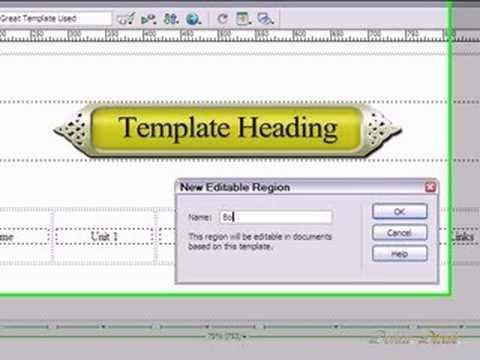 Designing  a Website Template Using Dreamweaver