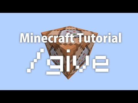 Minecraft Tutorial - Give Items to Players Using Command Blocks