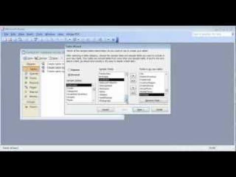 Microsoft Access 2003 pt 1 (tables)