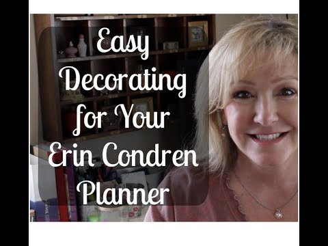 Easy Decorating for Your Erin Condren Planner