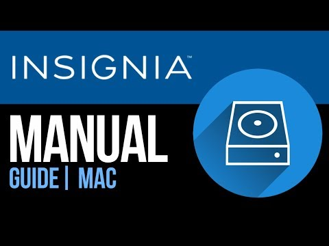 Insignia external hard drive Set Up Guide for Mac 2019