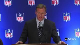 NFL not changing its national anthem policy, Goodell says