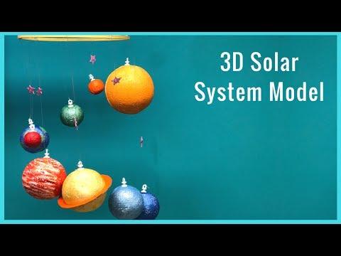 DIY I How To Make A 3D Solar System Model
