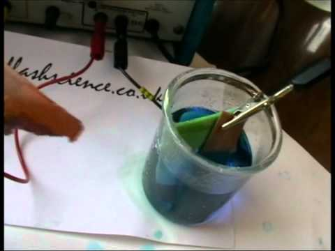 Solution Electrolysis: Copper (II) Sulfate using copper electrodes