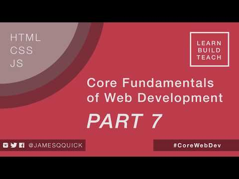 Core Fundamentals of Web Development Part 7 - Adding and Removing Classes in Javascript