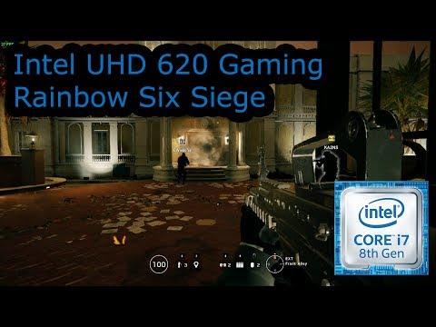 Intel UHD 620 Gaming - Rainbow Six Siege - i5-8250U, i5-8350U, i7-8650U, i7-8650U