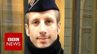 Interview with officer killed in Paris, Xavier Jugelé (2016) - BBC News