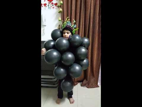 Aaron's Fancy dress costume  of Grapes.