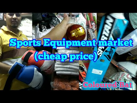 Sports equipment market at very cheap price.
