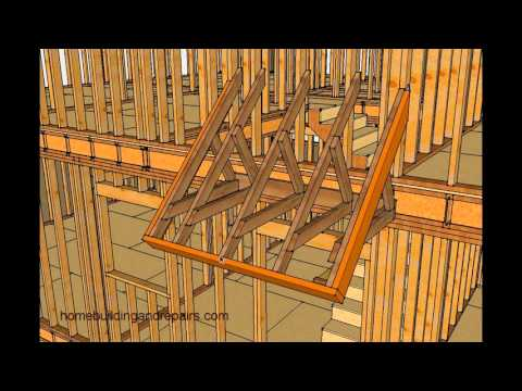 How To Frame Small Porch Roof Without Supporting Posts And Beam - Two Story Homes