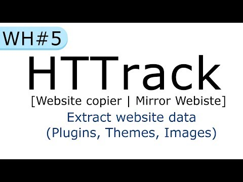 HTTrack website copier : mirror a website | How to extract website data [in Hindi]