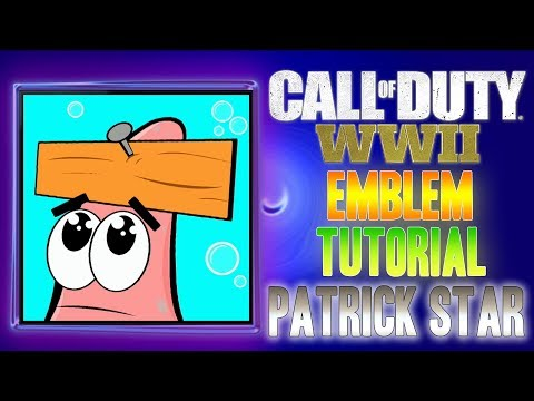 Patrick Star ( Nailed ) - Call of Duty COD WW2 WWII ( EASY ) Emblem Tutorial