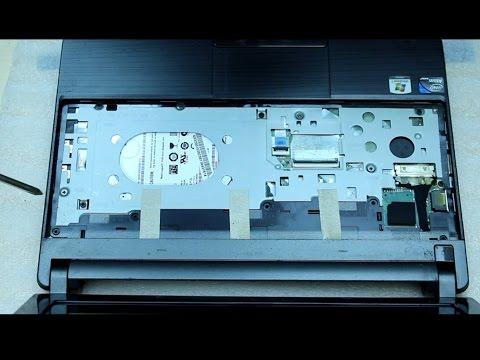 gateway lt40 za7 series lt4004u laptop netbook disassembly - remove motherboard/hard drive/ram etc.
