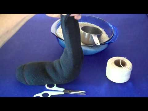 Make A Hot Sock Rice Pack